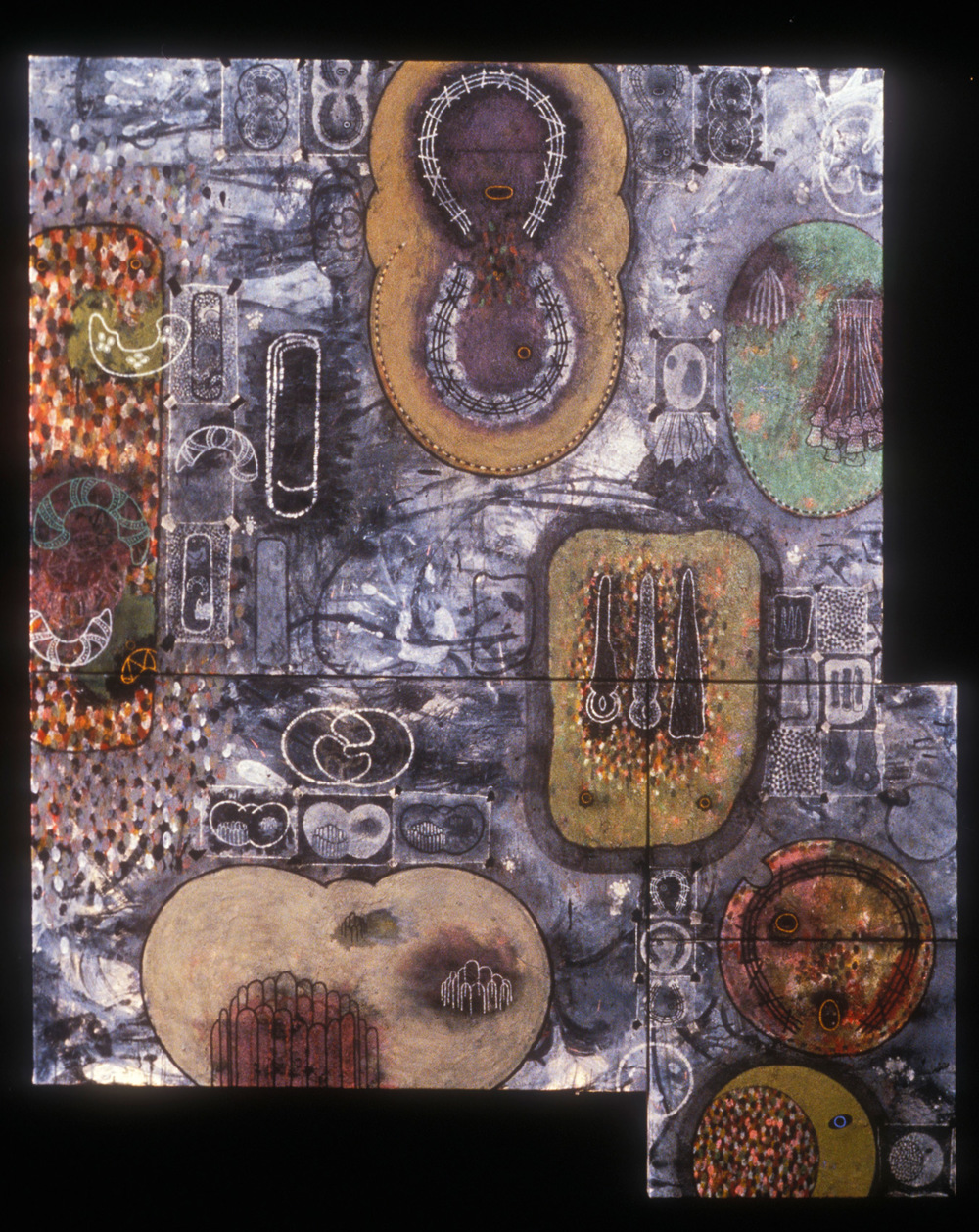 Untitled #2  , 1989, oil, wax, and charcoal on canvas, 66 x 66 in.