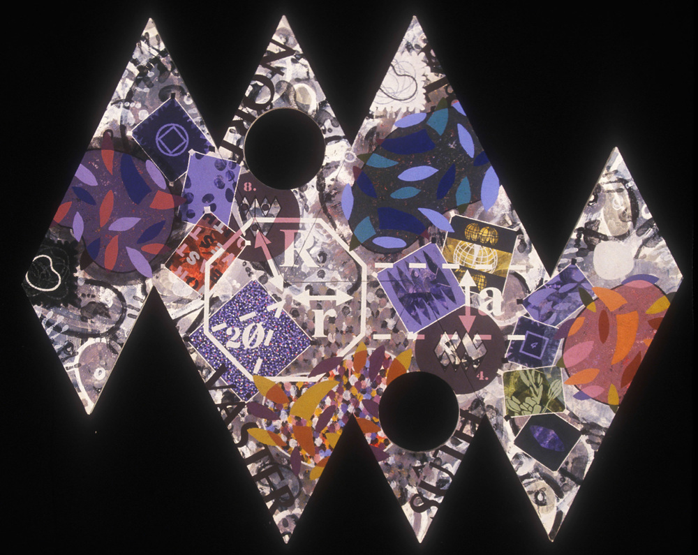 North by Northwest  , 1993, oil, wax, and charcoal on canvas, 60 x 90 in.