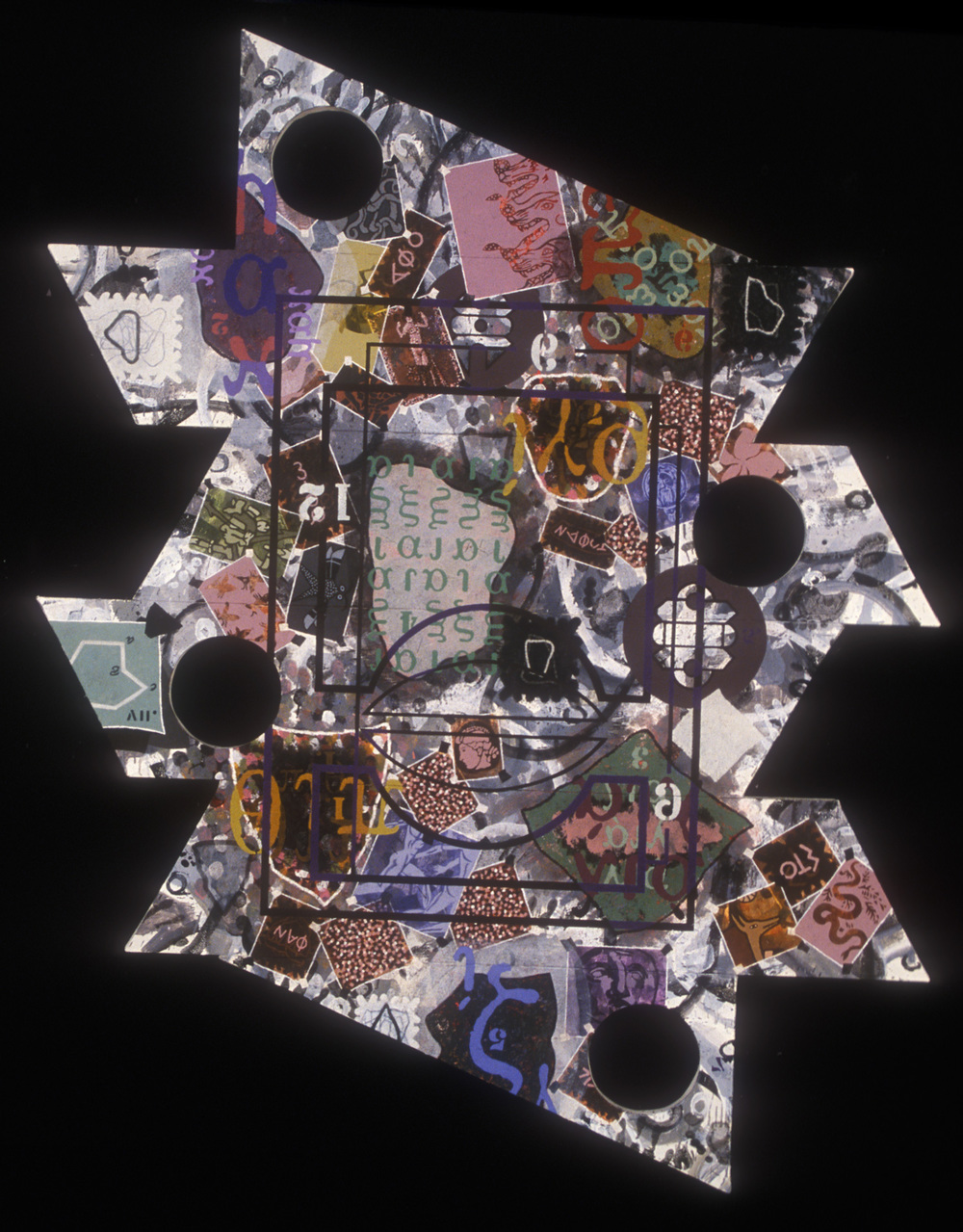 Sins  , 1993, oil, wax, and charcoal on canvas, 120 x 76 in.