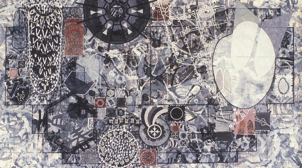 Study for Location  , 1992, acrylic, charcoal and gesso on paper, 66 x 120 in.