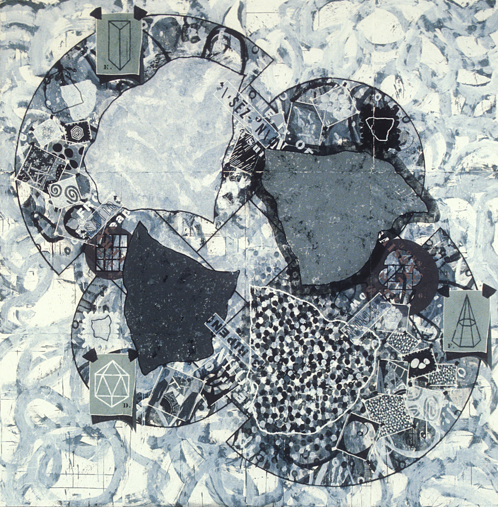 Study for Seasons,   1993, acrylic, charcoal and gesso on paper, 90 x 88 in.
