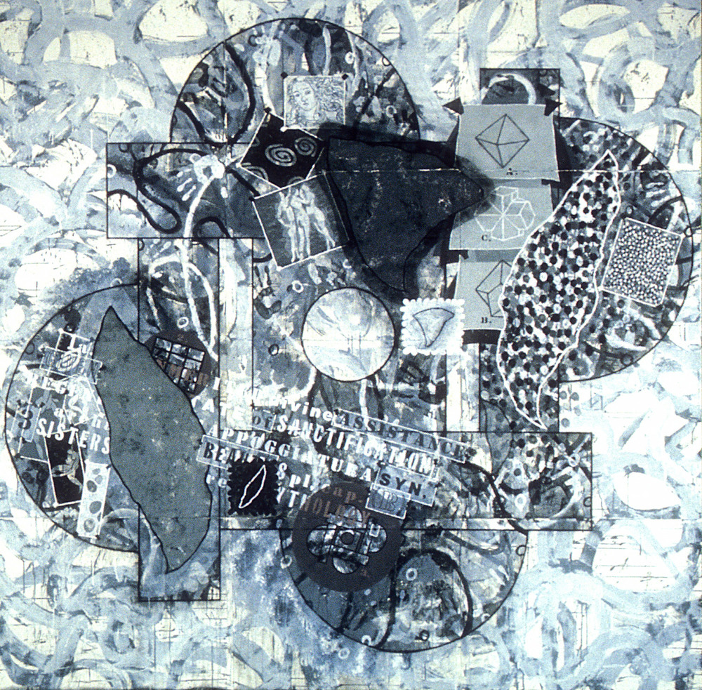 Study for Graces,   1994, acrylic, charcoal and gesso on paper, 88 x 90 in.