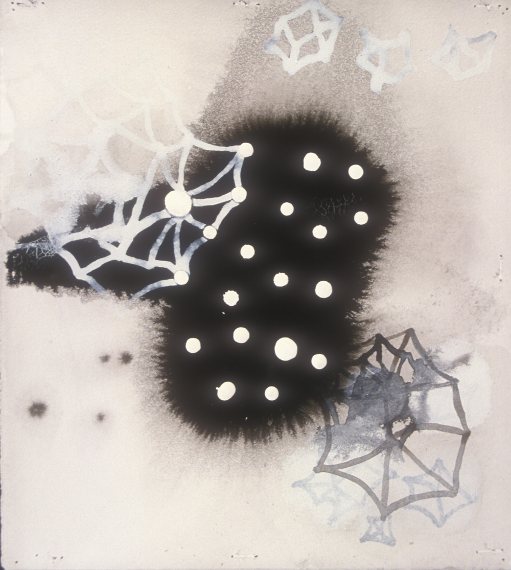 Aquatic 19  , 2003, India ink and gesso on paper, 16 x 14 in.
