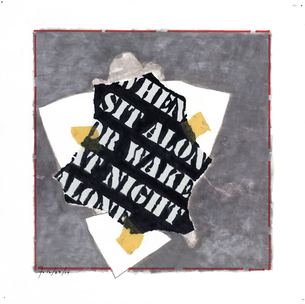 Collage #16 (first state)  , 2015, mixed media on paper, 12 x 12 in.