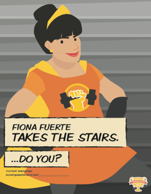 CCN poster_Fiona Fuerte takes the stairs