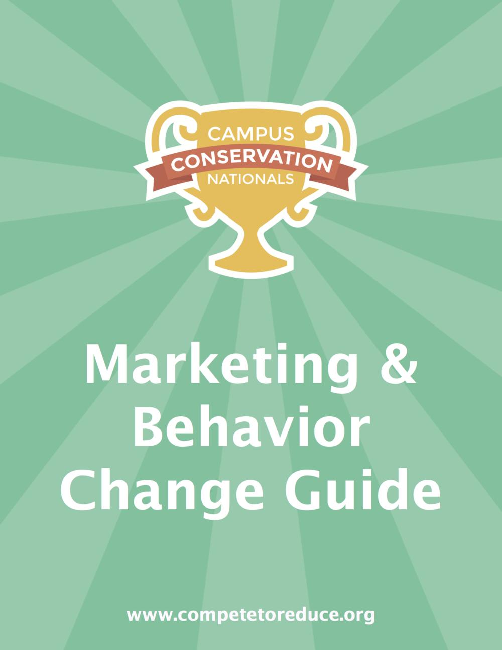 Marketing & Behavior Change Guide