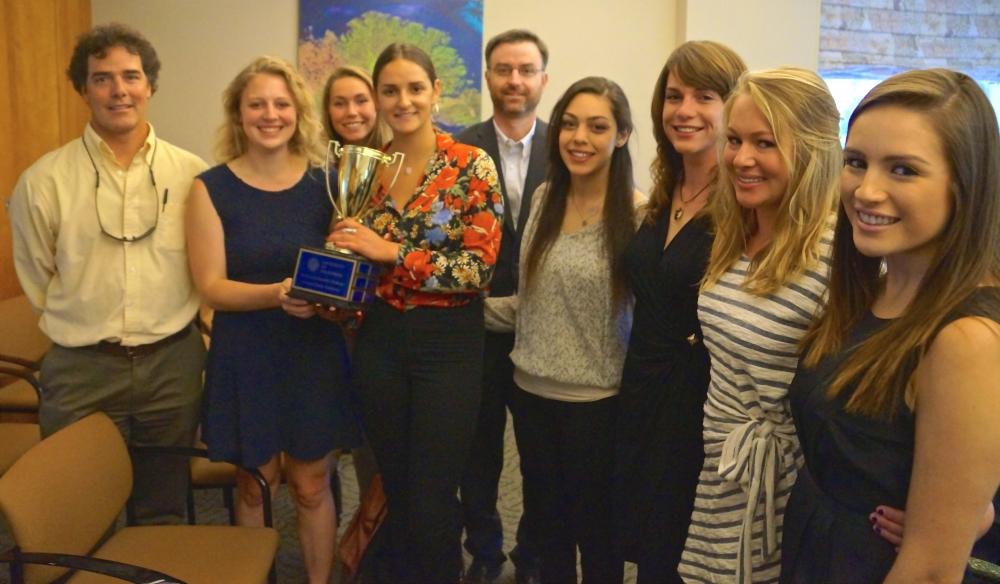 CCN 2015 - University of California Santa Barbara - Students receive trophy.jpg