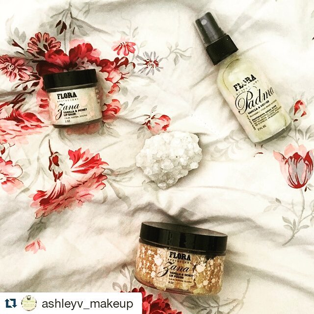 Happy #Saturday! We love it when our fans take amazing photos of our products ❣ 👏 #FloraFansRock #Repost @ashleyv_makeup with @repostapp ・・・ I cannot tell you how IN LOVE I'm in with @flora_apothecary products. Here, I have the vanilla & honey lip balm, the vanilla and vetiver facial elixir, and the vanilla and honey lip polish. First of all, they ALL SMELL SO GOOD! 😍 once I used the lip polish it was like heaven on my lips. And you want to know another awesome thing? ITS EDIBLE. I have never encountered products that have worked so well, smelled so good, and tastes so yummy! Want to know the best part? It's chemical free and vegan. I will defiantly be buying more of their products soon and will use them on my self, as well as my clients. 🎀💕🦄 #skin #skincare #arizona #az #clearskin #flora #makeup #makeupartist #art #artist #facial #treatment #vegan #nochemicals #lovely #aesthetics #aesthetician #lipscrub #cosmetics #natural