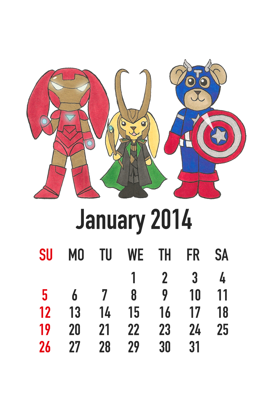 January 2014: The Avengers