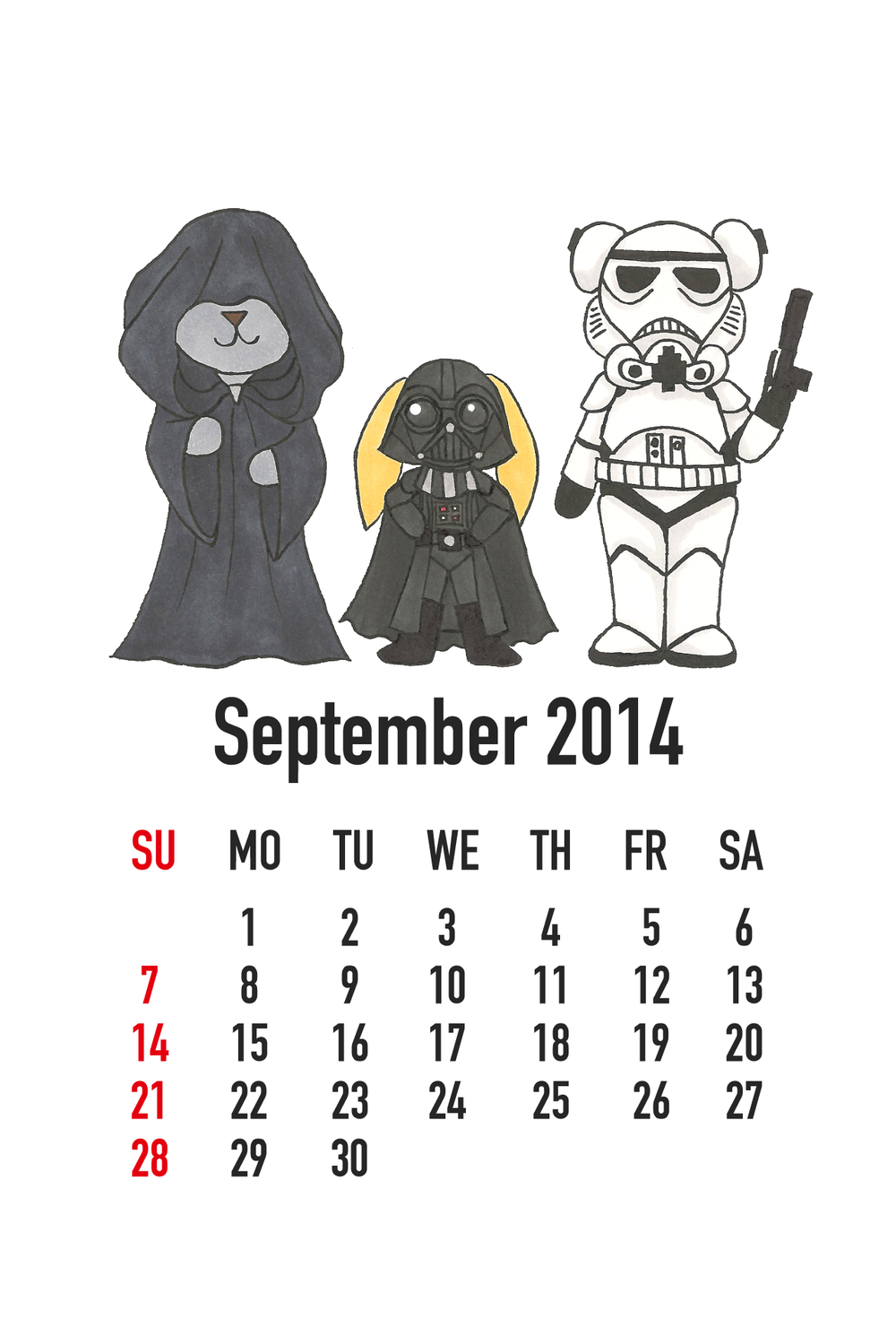 September 2014: Star Wars