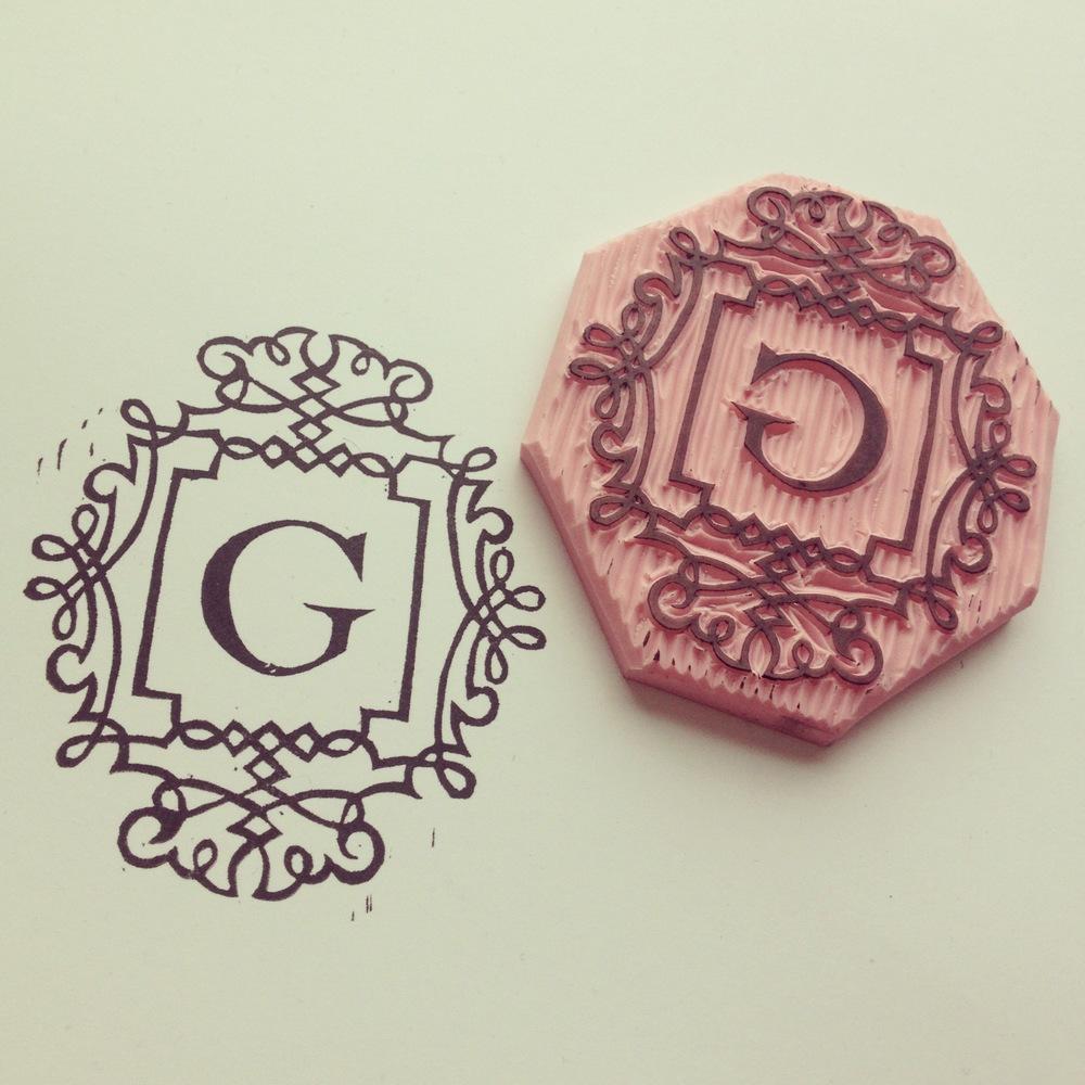 """G"" Letter Stamp"