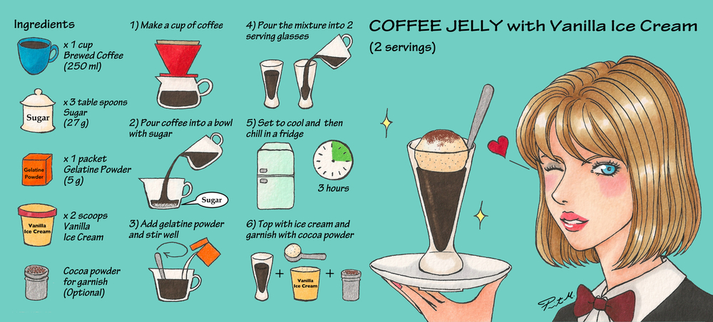 """Coffee Jelly"" Recipe for  They Draw & Cook"