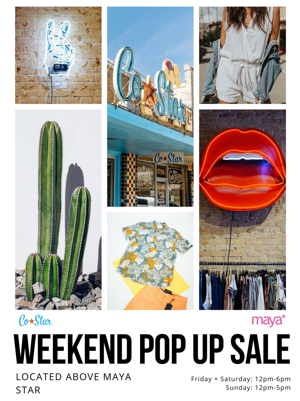 Weekend Pop Up Sale