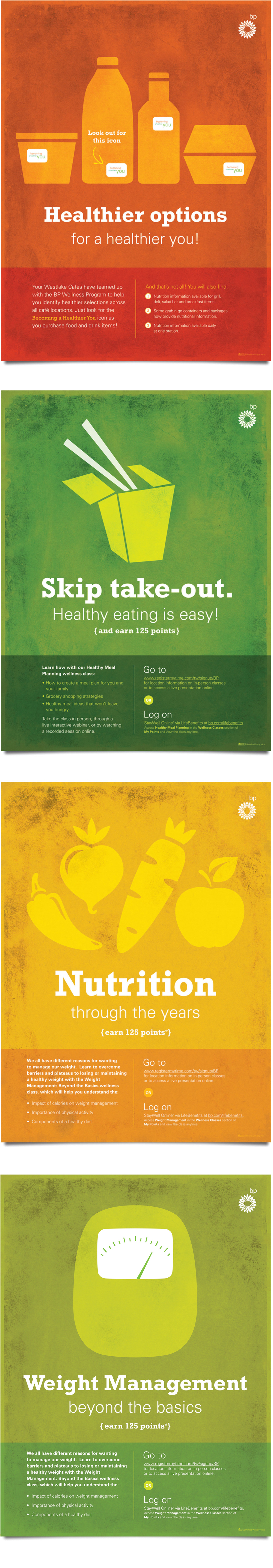 BP healthier options posters