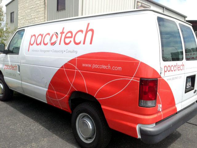 Pacotech van graphics
