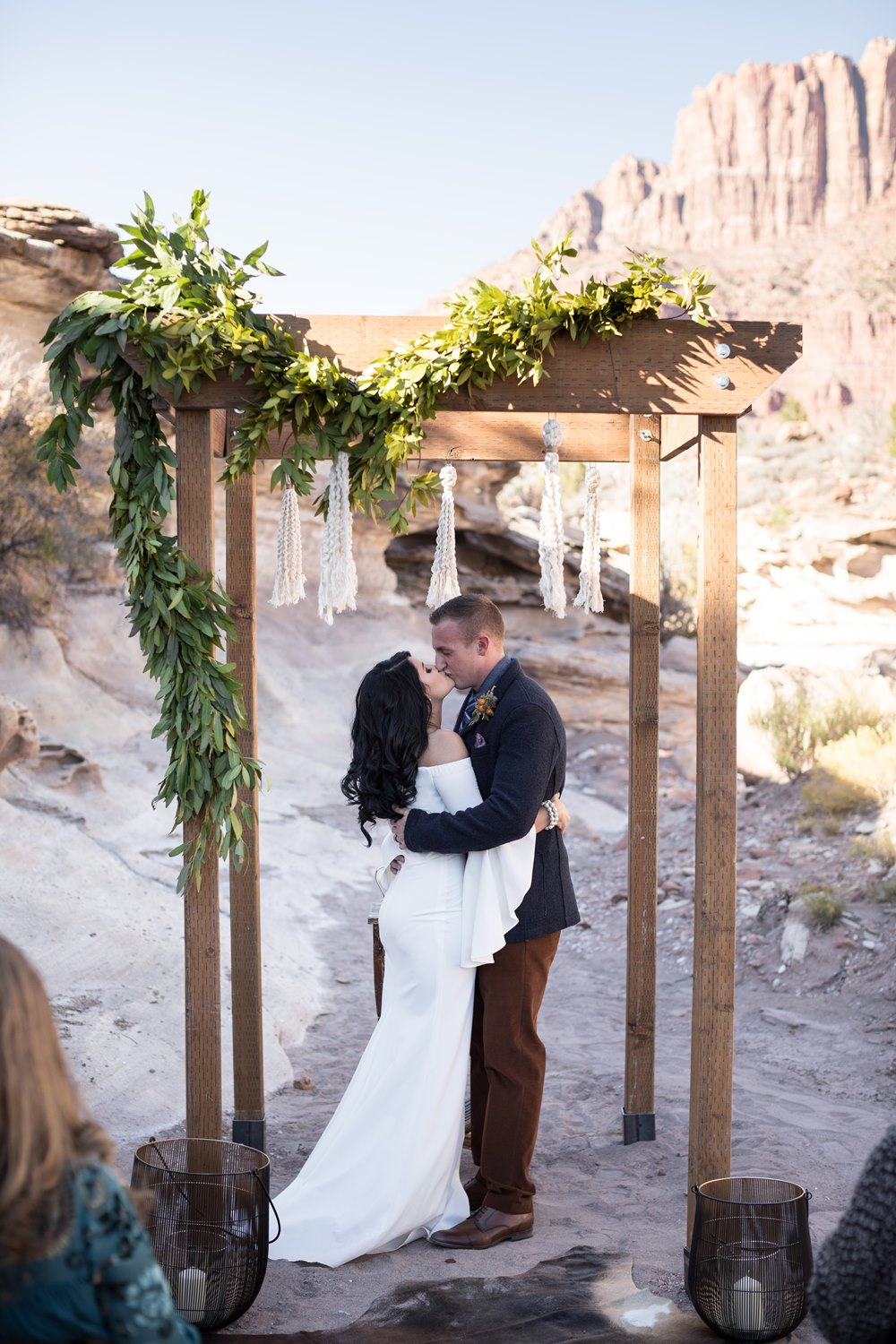 boho zion wedding
