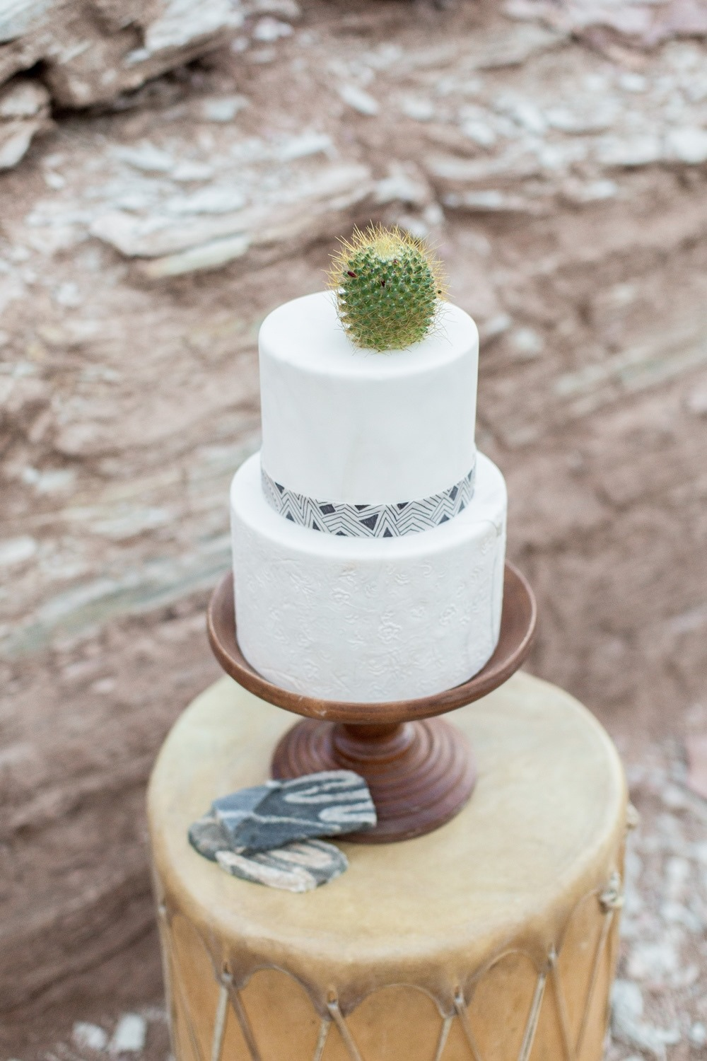 tribal inspired wedding cake