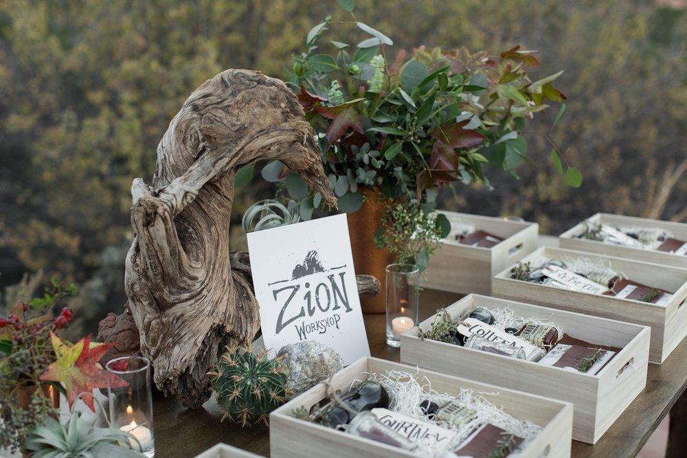zion wedding inspiration