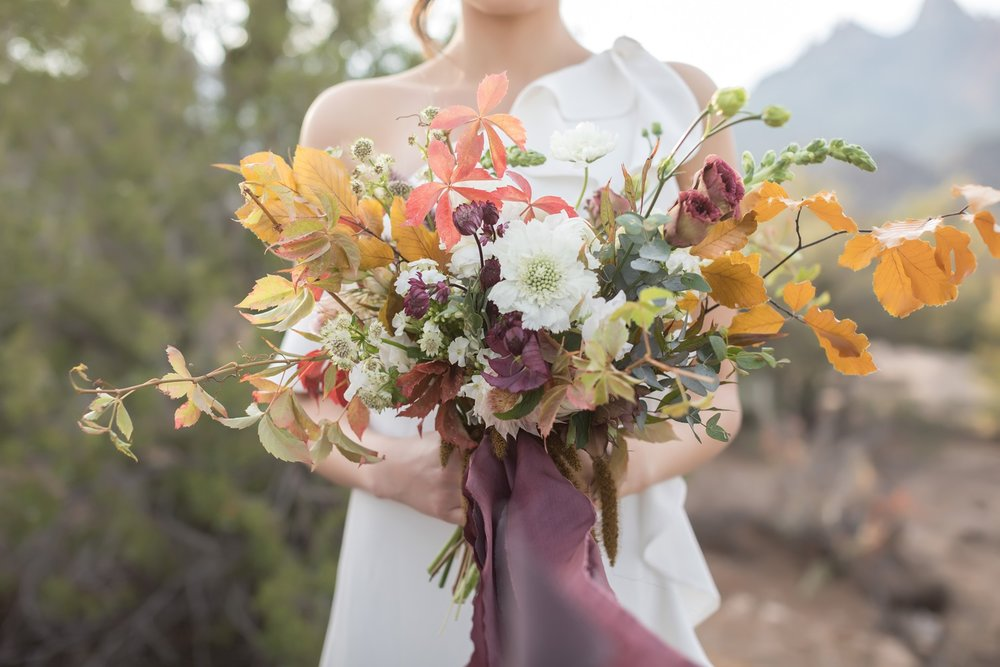fall inspired bridal bouquet