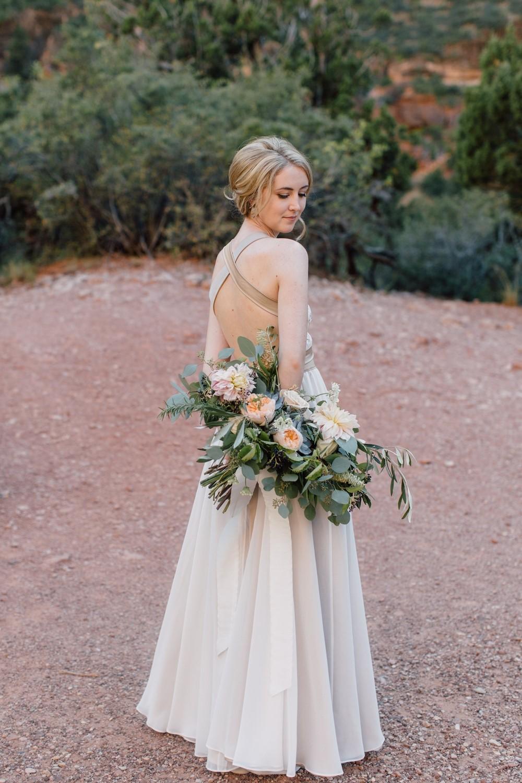 zion wedding bridal bouquet