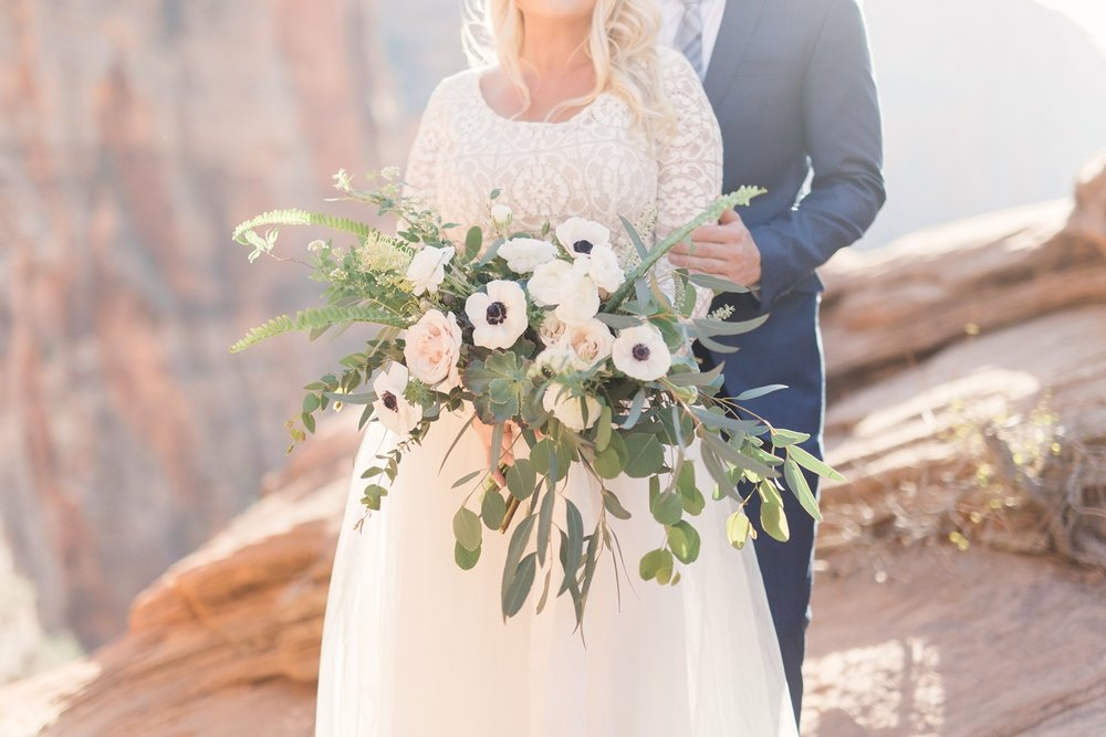 white oversized bridal bouquet