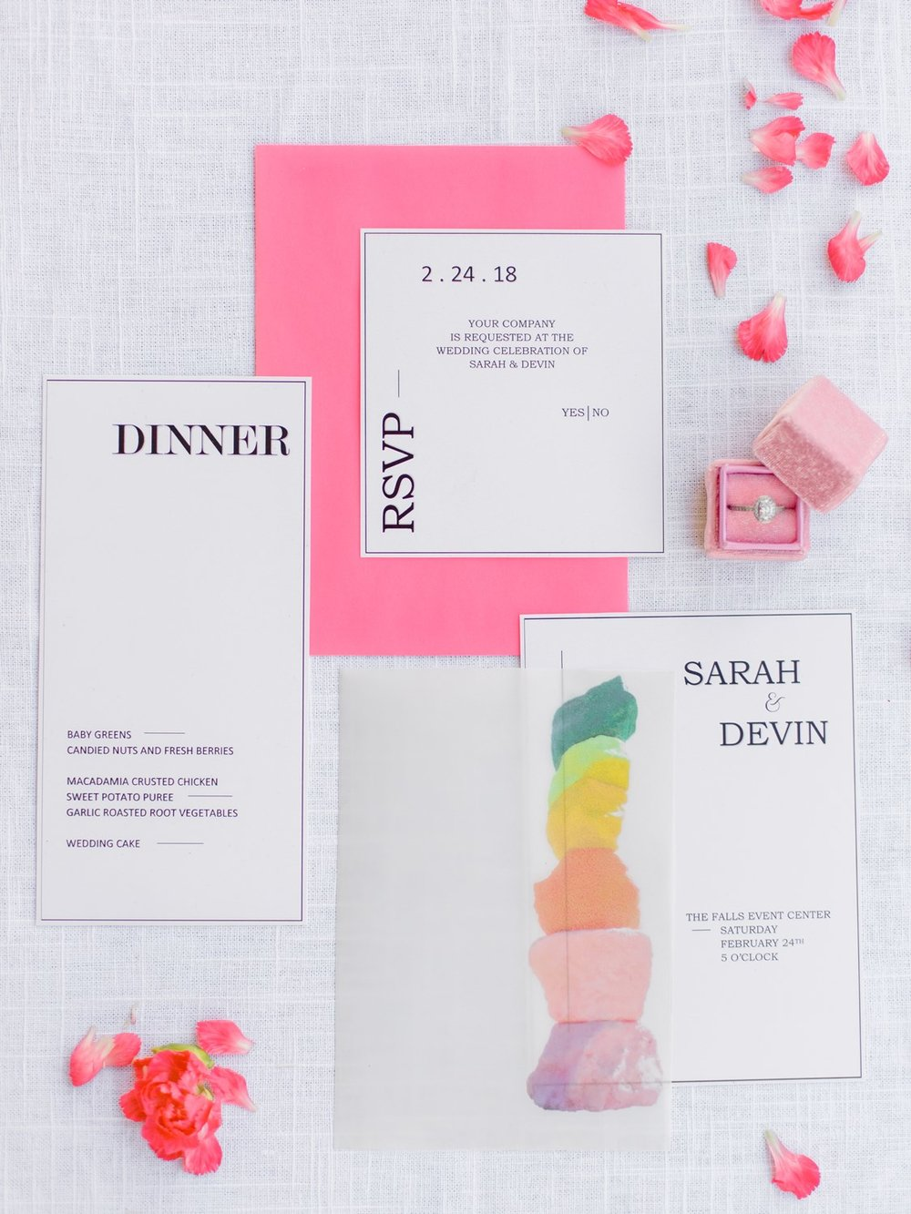 bright and bold stationary