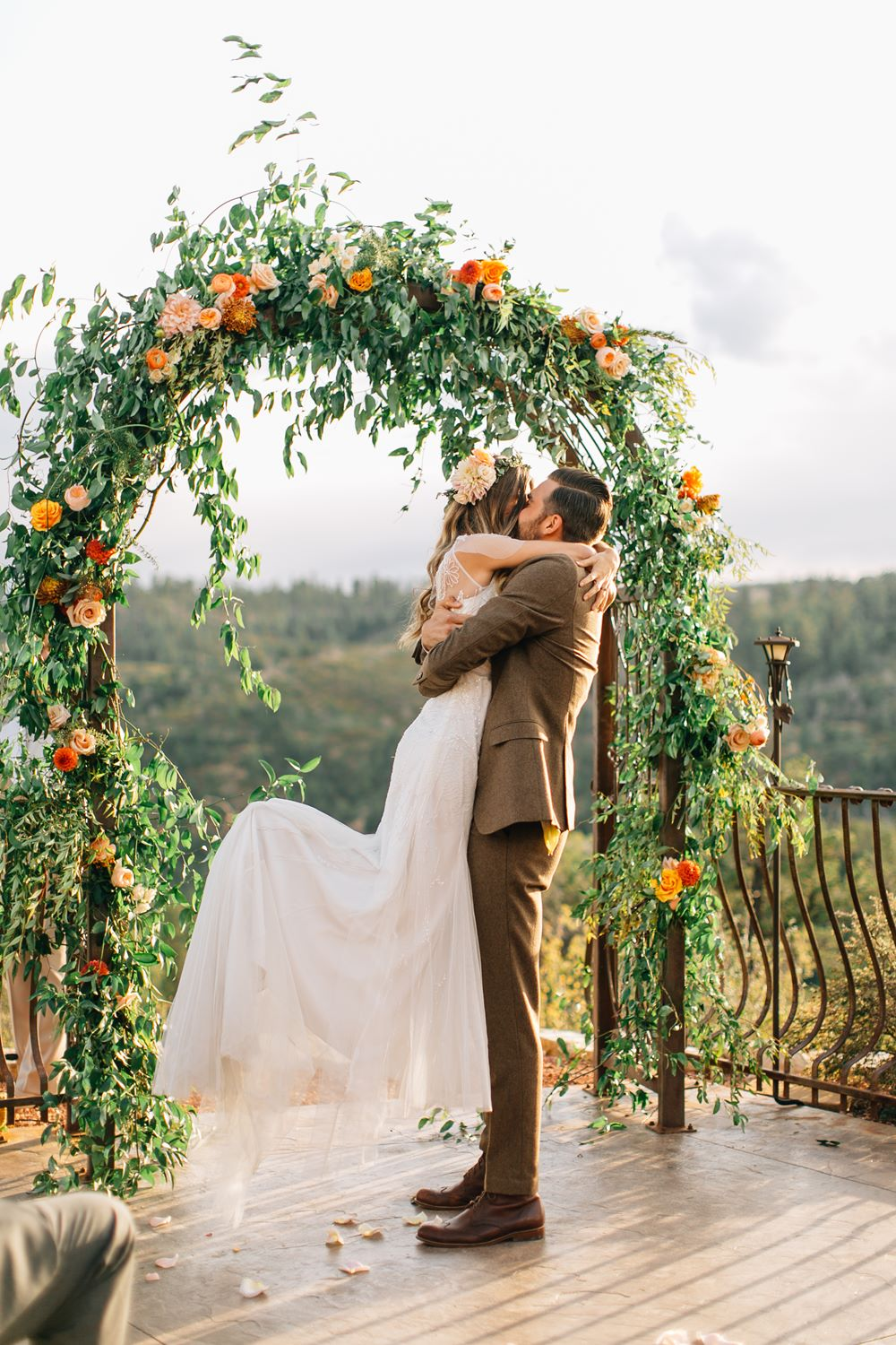 garden style ceremony arch