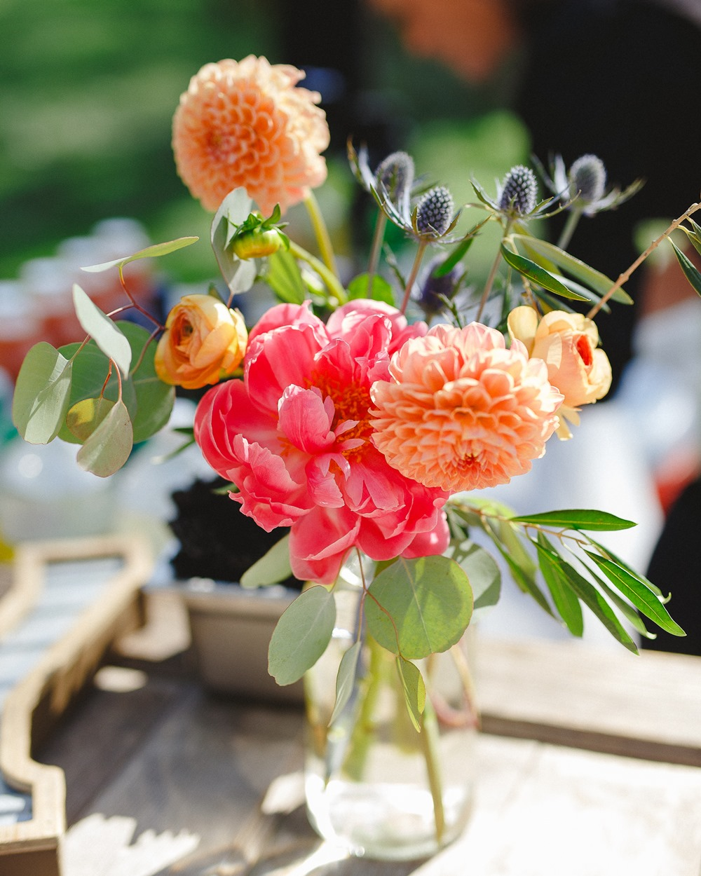 coral wedding centerpiece
