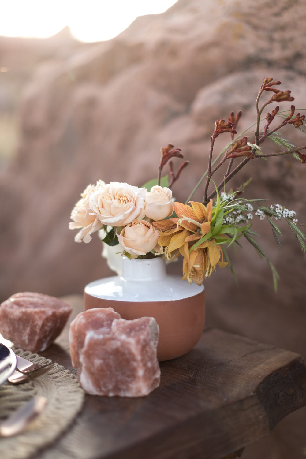 zion glamping centerpiece