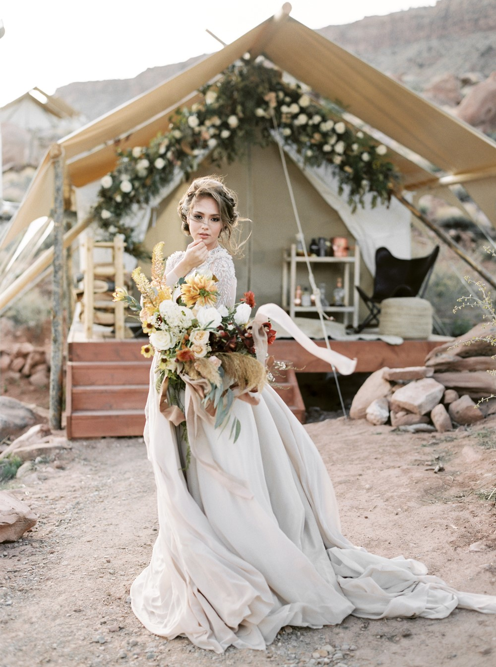 zion glamping elopement