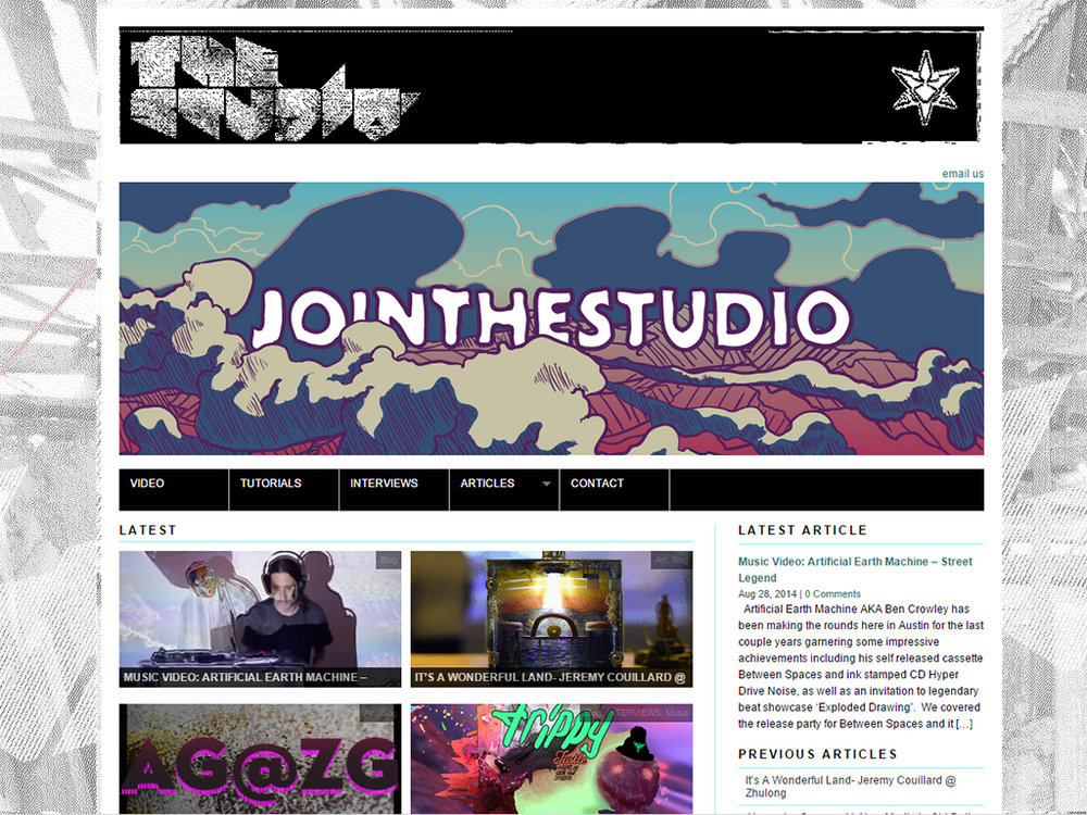 Joint The Studio banner, in context