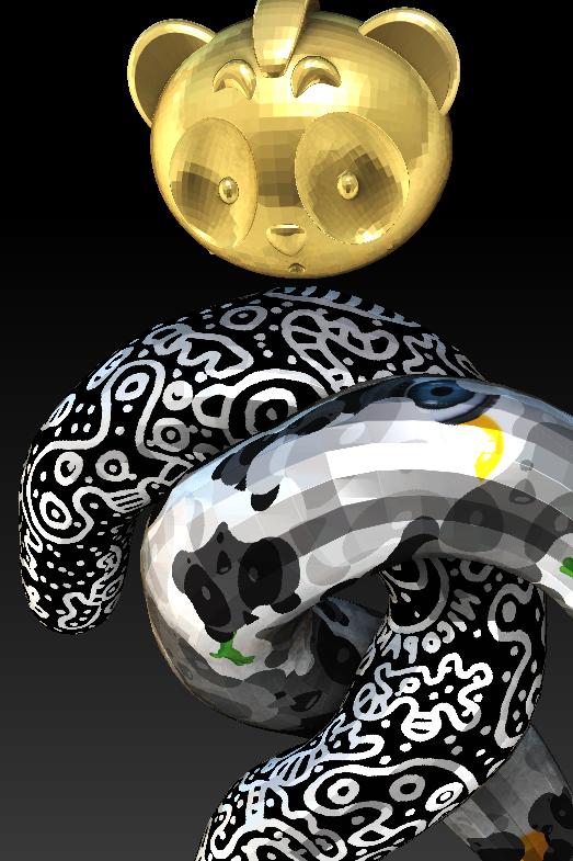 3D Panda Concept Art