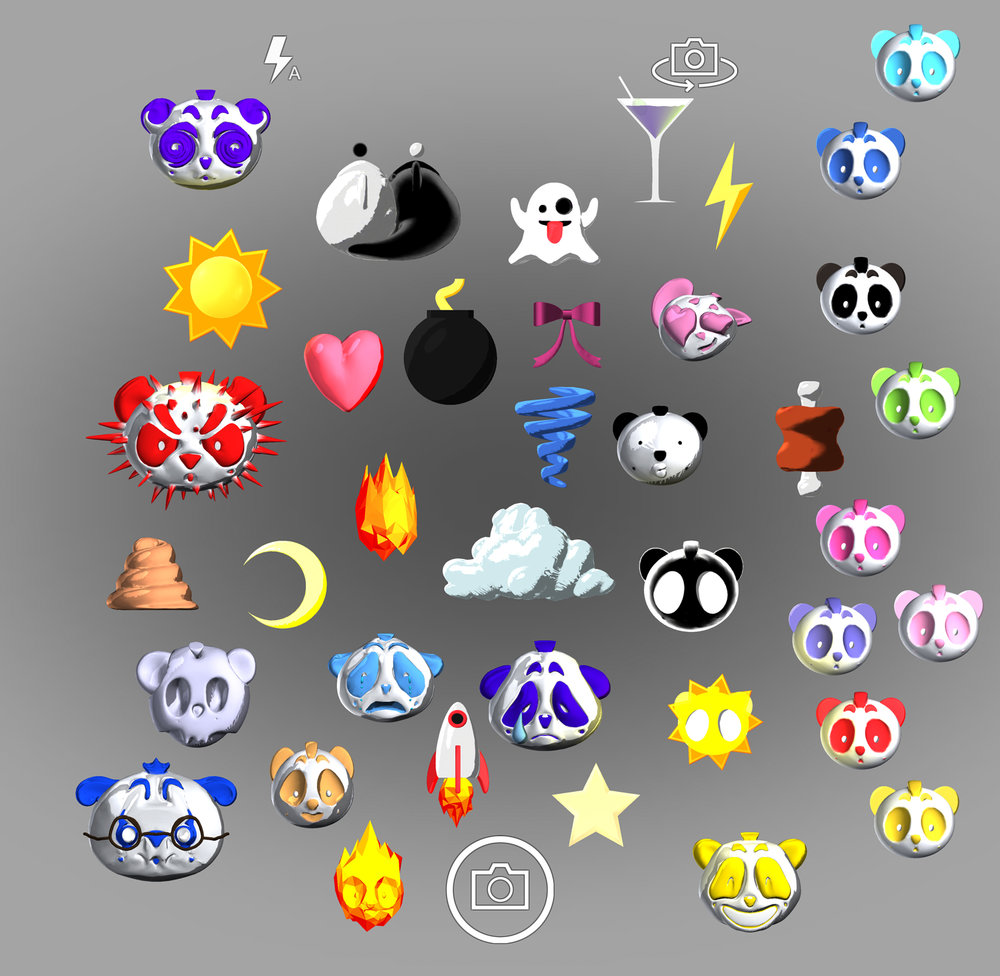 3D emoji for NICOPANDA App; during development. More info on  TWO HUSTLERS  page.