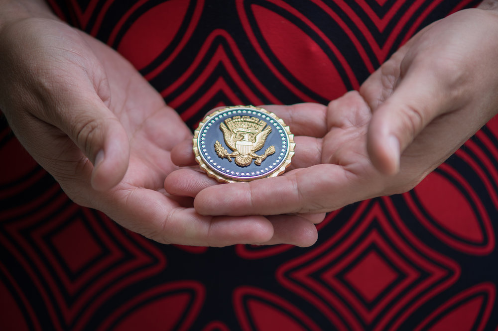 Army vertran Brooke Wylie has been awarded the presdential service badge for her work in the white house and happens to be a trans woman.