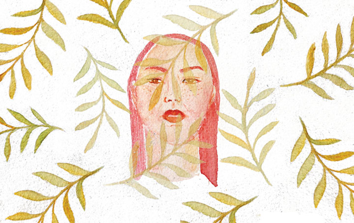 Flora Portrait Watercolour