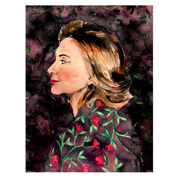 Hillary Clinton                             Watercolour