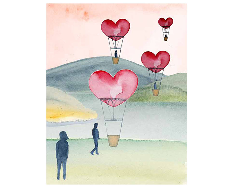 "Ask Polly Article:  ""Why Don't the Men I Date Ever Truly Love Me?                                            Watercolour"