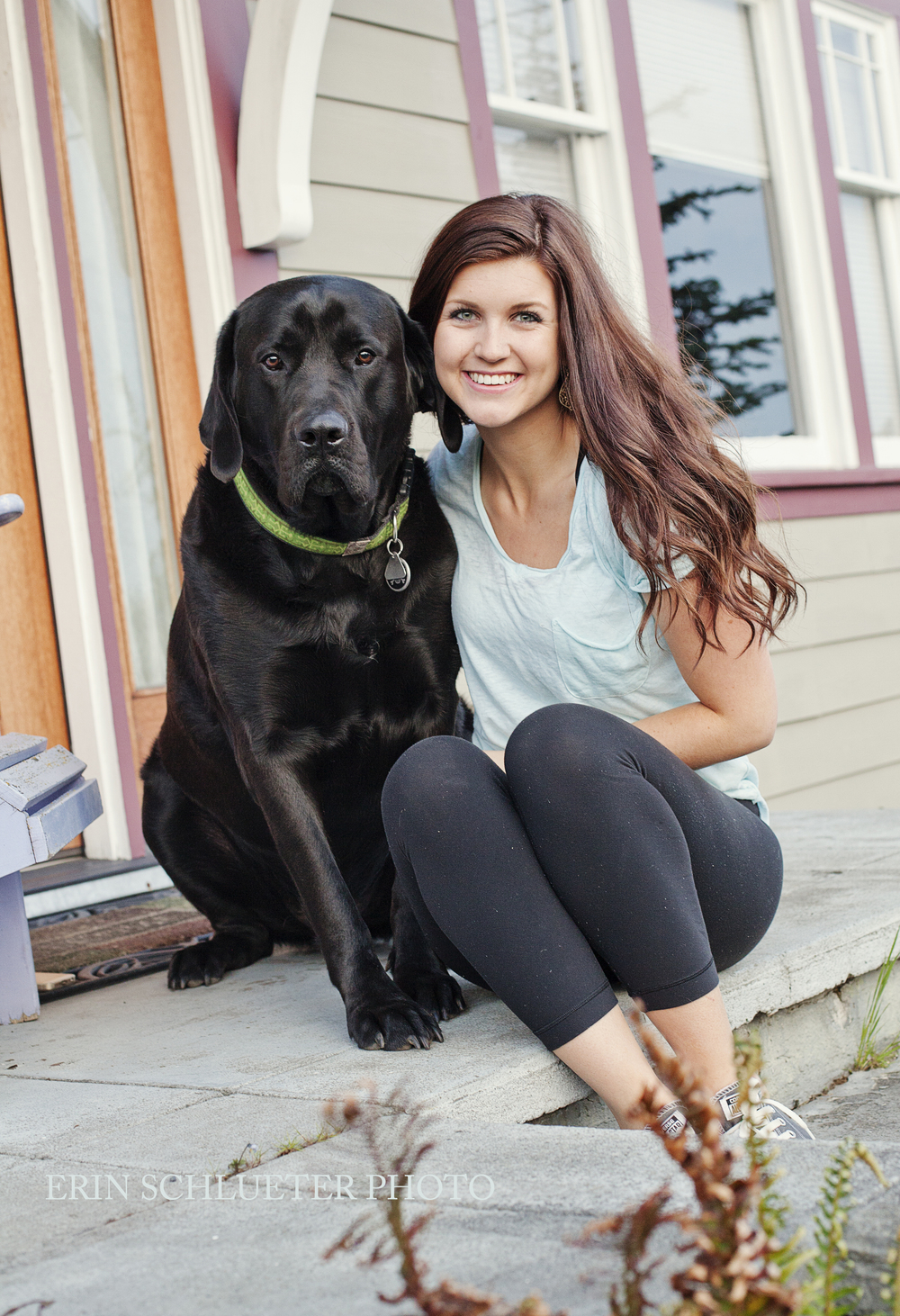 We ended the photoshoot with a photo of Jena and her dog.