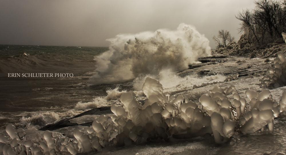 Ice Storm on Lake Superioer
