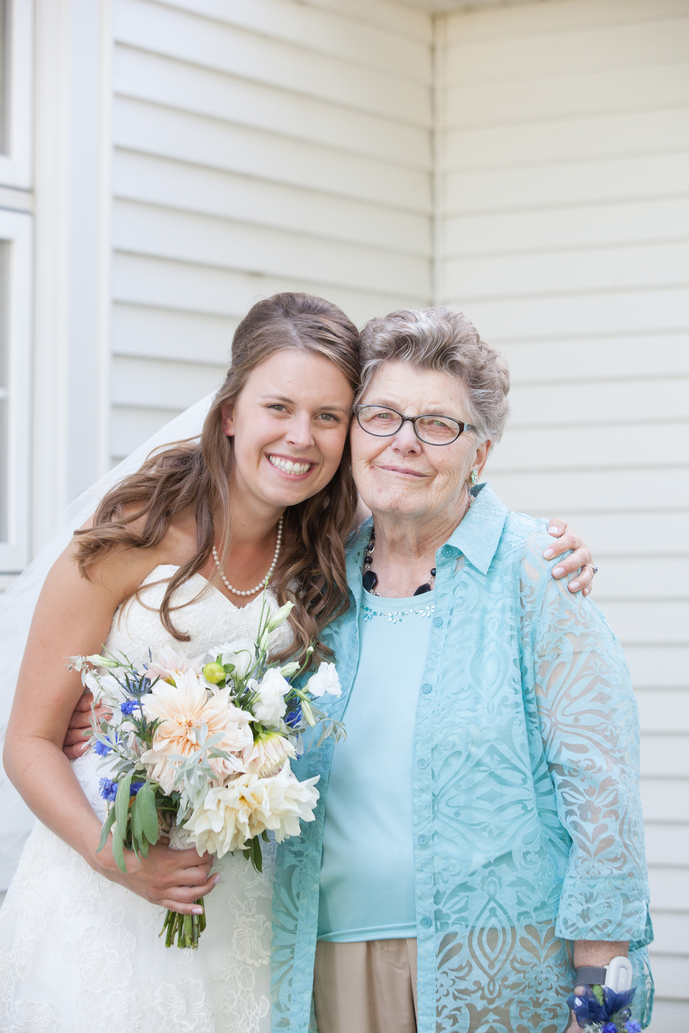 My grandma and I on my wedding day. Photo courtesy of  Holly D Photography