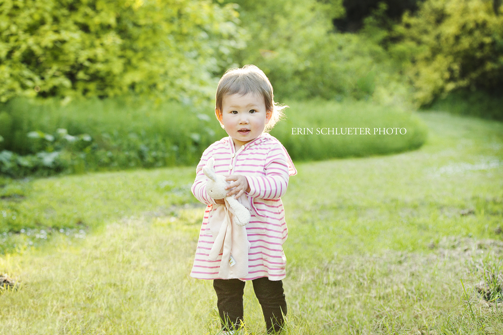 Emma brought her favorite bunny stuffed animal to our session. I love it when kids bring favorite toys to a photo shoot because it adds such a special memory to the photo.