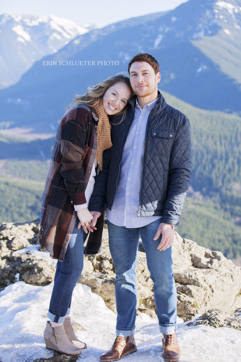 Rattlesnake Ledge is arguably one of the most popular hikes in the Seattle area. It's a short two mile hike that rewards you with a stunning panoramic view at the end of the hike.  It's only a few miles from North Bend, which makes its easy to access, and is one of my favorite places in Washington for engagement photos.