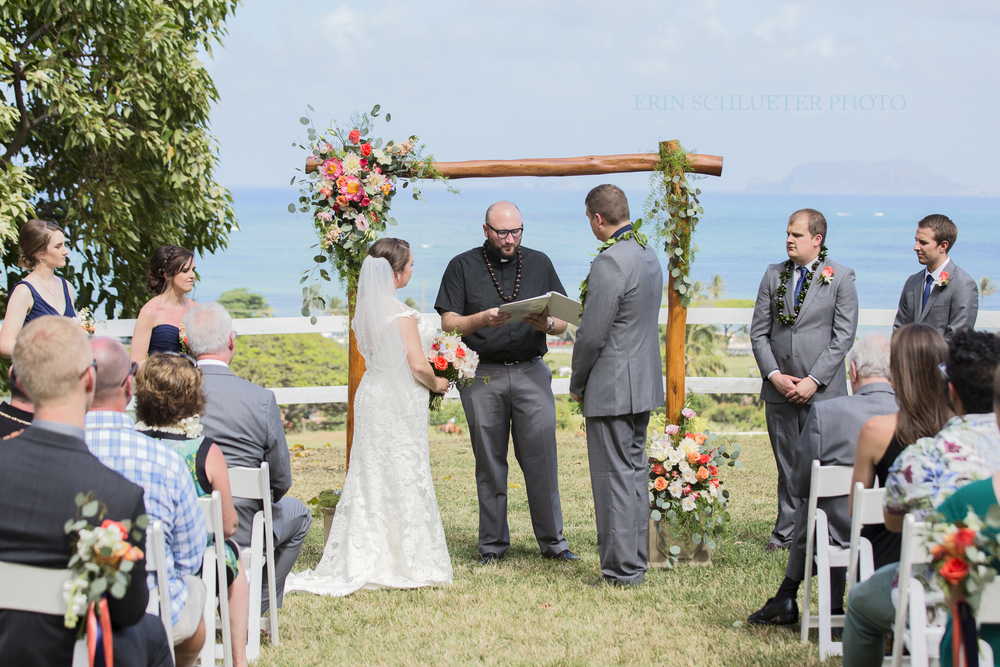 The Couple Exchanged Vows Overlooking Ocean In Spirit Of Location Bride