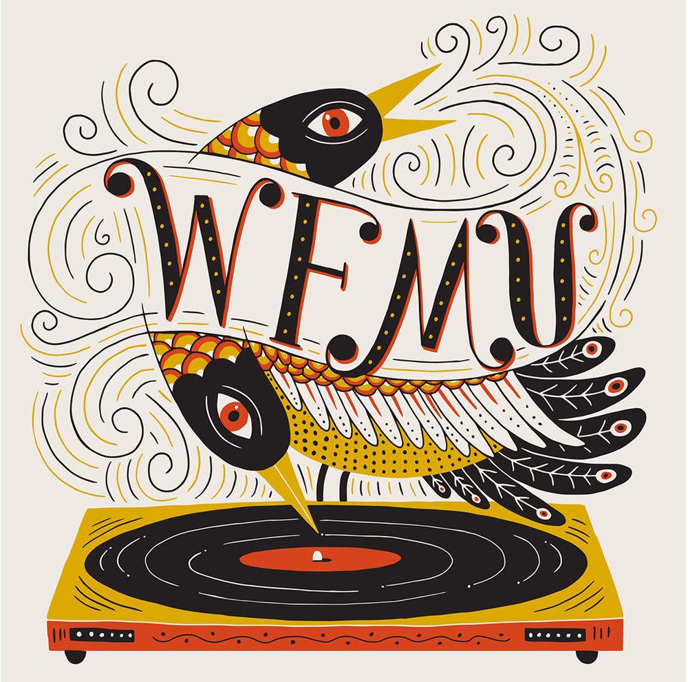 T-shirt design for  WFMU's  annual fundraiser.