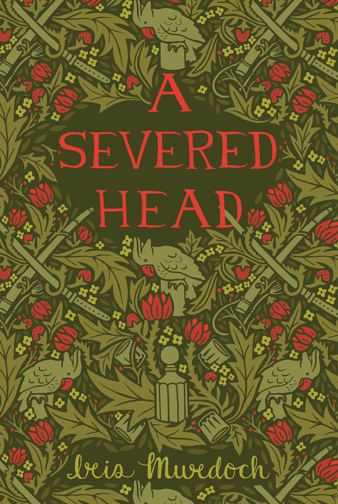 A Severed Head  by Iris Murdoch cover for Uncovered Classics.