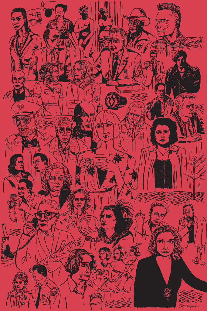 A collage of characters from  Twin Peaks: The Return  |  For sale in my shop