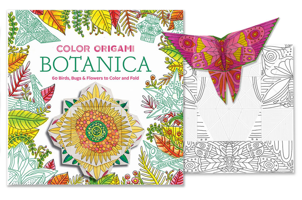 Cover and interior illustrations for the Color Origami series | Client: ABRAMS | AD: Hana Nakamura