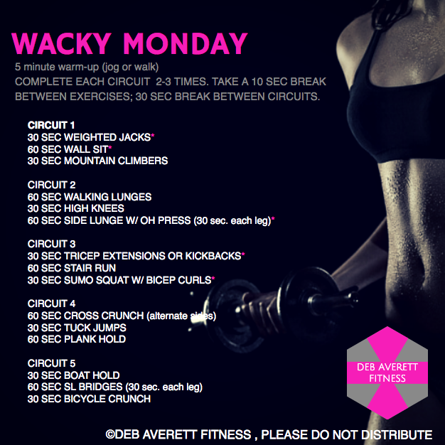 Wacky Monday at home hiit workout