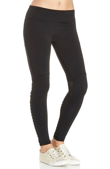 SOLOW Legging with Side Pleats in Black