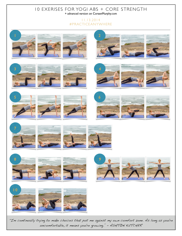 10 Exercises for Yogi Abs and Core Strength — Coreen Murphy